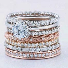 Stackable Rings at Andress Jewelry LLC