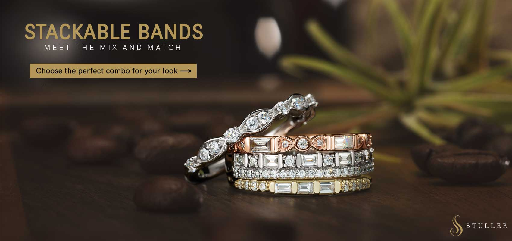 Stackable Bands Available At Andress Jewelry